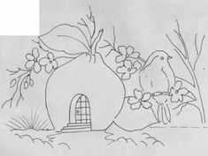 Artes Ana Vilela : riscos de pintura 2017 3 Owl Coloring Pages, Coloring Sheets, Pink Houses, Digi Stamps, Painting Patterns, Cool Drawings, Little Boys, Embroidery Patterns, Needlework