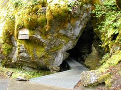 June 5, 2012 - Passageway in the caves of Oregon Caves National Park.