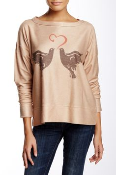 French Terry Sweatshirt by Go Couture on @HauteLook