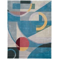 Safavieh Handmade Rodeo Drive Modern Abstract Blue/ Multi Wool Rug (7'6 x 9'6)