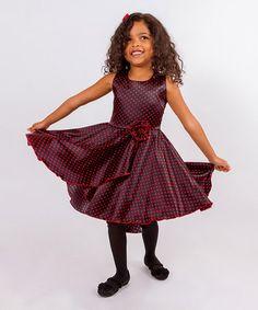 Loving this Purple & Red Audrey Twirl Dress - Toddler & Girls on #zulily! #zulilyfinds
