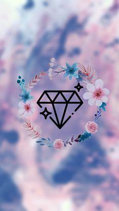 Diamond Wallpaper, Lit Wallpaper, Flower Wallpaper, Screen Wallpaper, Apple Logo Wallpaper Iphone, Wallpaper Iphone Cute, Cute Wallpaper Backgrounds, Cute Wallpapers, Wallpaper Quotes