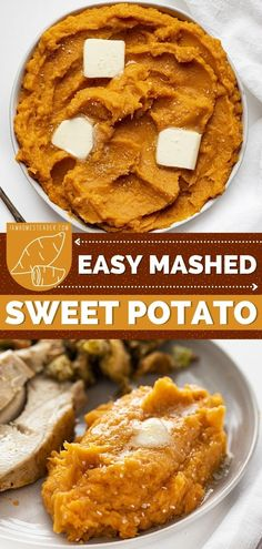 Looking for easy Easter dinner recipes? Time to give Mashed Sweet Potatoes a try. This buttery and creamy Easter side dish recipe need only five ingredients to make! This sweet and savory dish is quick and easy to prepare and packed with nutrients too! Easy Mashed Sweet Potatoes, Yam Or Sweet Potato, Sweet Potato Casserole, Easter Dinner Recipes, Holiday Recipes, Savoury Dishes, Food Dishes, Salted Or Unsalted Butter, Easter Side Dishes