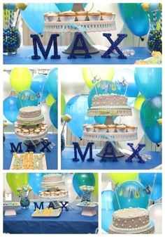 love the colors and the cute cake decor! :) Great ideas!
