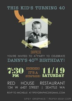 Ideas Birthday Surprise Party For Him Friends For 2019 40th Party Ideas, 40th Bday Ideas, 50th Party, 30th Birthday Parties, 90th Birthday, Birthday Quotes, Birthday Cakes, Birthday Gifts, Happy Birthday