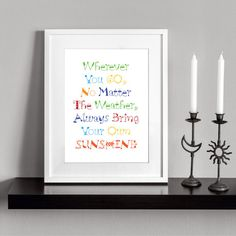 Your own sunshine. Printable inspirational and by Cartelmania