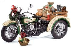 PhillyMint - Franklin Mint Harley-Davidson Servi-Car - 2009 Christmas Ltd. Ed. 1,000 1:10th Scale