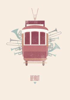 I don't even care that this is a band. I just love this poster.  Póster Beirut