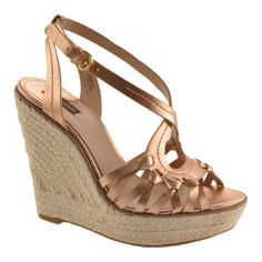 Special Offers Available Click Image Above: Joan & David - Dreena (women's) - Rose Gold Metallic Leather Gold Wedge Heels, Gold Wedges, Wedge Sandals, High Heels, Sandals Platform, Shoes Sandals, Espadrille Shoes, Espadrilles, Joan David