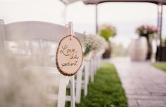Love Is Patient rustic vintage sign from Piece of Cake Wedding Decor