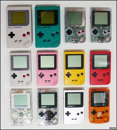 GameBoy came in a variety of colors! (my clear one wasn't smaller than the other...it was just clear rather than gray)