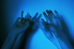 grafika blue, grunge, and hands