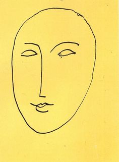 HENRI MATISSE FACE-MASK, 1948  i want a too like this but a lil different, similar to his La pompadour