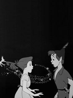 Tinkerbell, Wendy and Peter Pan Disney And Dreamworks, Disney Pixar, Walt Disney, Disney Characters, Disney Couples, Disney Dream, Disney Love, Disney Magic, Peter Pan And Tinkerbell