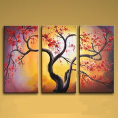 Elegant Designed Contemporary wall art Tree oil painting on canvas. This painting has been stretched on wooden bar and custom framed by a specialist read Multi Canvas Painting, 3 Piece Canvas Art, Modern Oil Painting, Abstract Canvas Wall Art, Modern Canvas Art, Large Canvas Wall Art, Contemporary Wall Art, Oil Painting Abstract, Modern Artwork