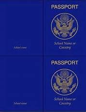 passport to reading template - Bing images