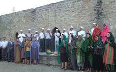 Iranian Zoroastrians praying in the Fire Temple of Baku
