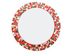 SALE Red Gold Green Mosaic Wall Mirror by GreenStreetMosaics