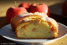 Pudding-Wickelkuchen mit Zimtäpfeln
