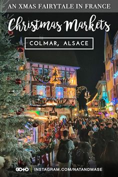 Colmar Christmas Markets: The entire town of Old Colmar in the Alsace region of France is transformed into a fairytale for Christmas. Six Christmas markets and 180 unique stalls adorn the old town, with fairground rides to entertain the children. Don't forget to look out for Father Christmas as he rows his boat down the stream! #colmar #christmasmarkets #alsace #france #francechristmasmarkets #christmasmarketsinfrance #europe #europeanchristmasmarkets #frenchtowns #fairytale World Travel Guide, Europe Travel Guide, France Travel, Travel Guides, Travel Destinations, Christmas Destinations, Travel Plan, Christmas Markets, Christmas Travel