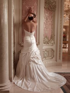 Casablanca Bridal Dress - back of 2086