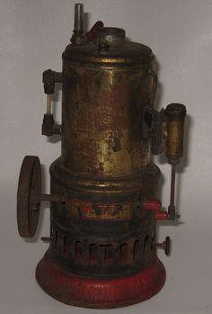 Antique Weeden Steam Engine No 20 Brass Boiler Red Base #BP49