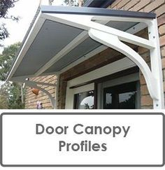 DIY AWNING - We so need an awning over our side entry so we donu0027t get soaked while fumbling for keys in the rain--- Iu0027m also thinking this could support a ... & Door canopy and trellis! Love this!! | Products I Love | Pinterest ...