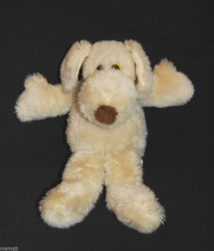 Le Mutt Francesca Hoerlein Puppy Dog Cream Vintage 1980 Stuffed Plush Animal - My favorite toy from childhood.