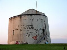 A Martello Tower One of many along the East Coast This one in Folkestone is a visitor centre