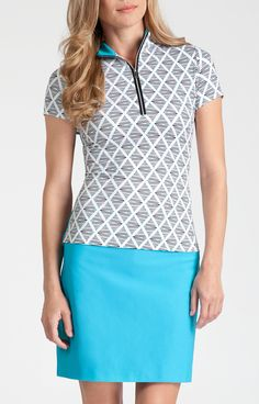 Hester Top - Vivid -Instant Spark for Golf - Tail Activewear - Women's Golf Apparel