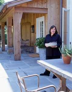 House Beautiful An Inside Look at the Barefoot Contessa's New Barn Ina at Home | http://www.housebeautiful.com/decorating/ina-garten-barn-1108#slide-2 | bluestone terrace