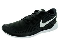 Nike Men's Free 5.0 Running Shoes 724382 002 Black/White/Grey Size 9.5 #NikeAir #RunningCrossTrainingSneakers