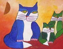 Família de gatos by Aldemir Martins