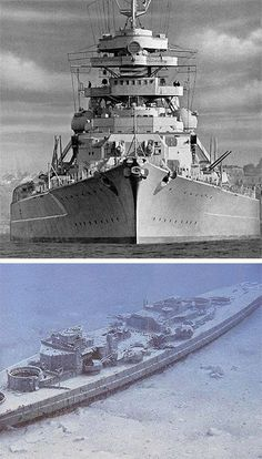 14 Feb The great German battleship BISMARCK is launched, the most powerful ship in the Kriegsmarine. Its career on the seas, however, will be cut short by the British. Military Art, Military History, Bismarck Battleship, Abandoned Ships, Naval History, Navy Ships, Aircraft Carrier, Royal Navy, War Machine