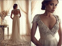 beaded vintage lace wedding dress - Google Search