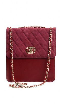 New vintage messenger leather argyle bag