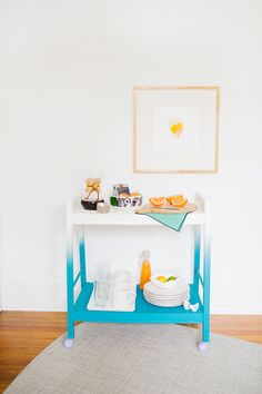 Ombre Bar Cart Makeover (a fun way to reuse a baby change table!)