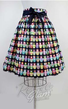 Retro Glam - Heart of Haute Gypsy Skirt in Russian Dolls Print, $63.
