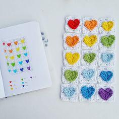creativecrochetshop From sketch to crochet work!  #grannysquare #heart #crochet #crochetpattern #crochetdesign #crochetersofinstagram #crocheting #crochetinspiration #igcrochet #pattern #patterndesign #creativecrochetshop #instacrochet #rainbowcolors #colorful #happy #funnycrochet #kreativhaekelshop #häkeln #häkelnisttoll #instahäkeln #häkelanleitung #herz #regenbogenfarben #bunt #fröhlich #häkelliebe #häkelmuster