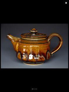 Amber teapot.
