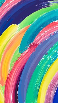 Rainbow Wallpaper, Colorful Wallpaper, Cool Wallpaper, Mobile Wallpaper, Pattern Wallpaper, Wallpaper Backgrounds, Iphone Wallpaper, Rainbow Aesthetic, Painting Wallpaper