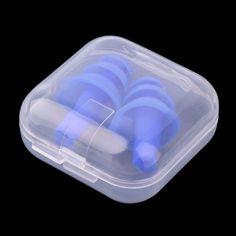 2017 새로운 1 짝 블루 나선형 솔리드 편리한 실리콘 귀 플러그 안티 노이즈 코골이 귀마개 편안한 연구 침낭