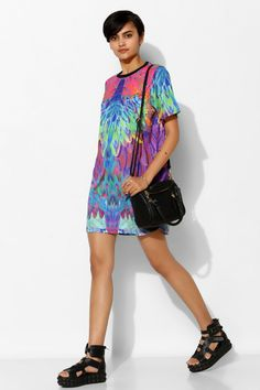 Textile Federation Xroma Tee Dress - Urban Outfitters