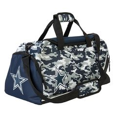NFL Dallas Cowboys Core Camo Duffle Bag at shop.dallascowboys.com.