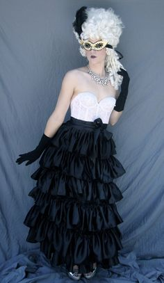 Black White/Ivory and Gold Masquerade Costume 3 by darkponydesigns, $400.00