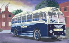 Bristol L6b Coach Chassis. Classic British Coach. Royal Blue Express Services. Eastern Coachworks