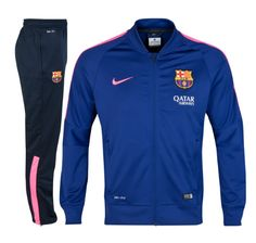 Barcelona Squad Sideline Knit Warm Up Tracksuit Royal Blue FC Barcelona Official Merchandise Available at www.itsmatchday.com