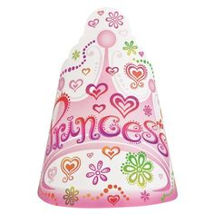 Princess Diva Party Hats, 8ct