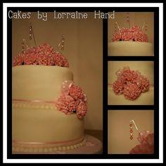 Pretty in Pink #cake #fondant #wedding