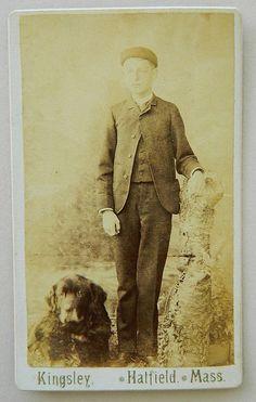 Antique Cartes-De-Visites Boy & His Newfoundland Dog Photograph Vintage Photographs, Vintage Photos, Newfoundland Dogs, Doggy Stuff, Dog Rules, Historical Images, Vintage Dog, Gentle Giant, Dog Boarding